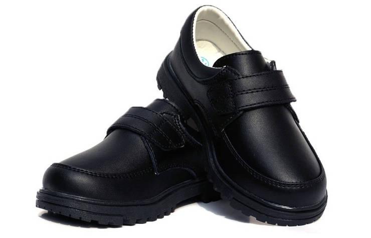 Кожаные туфли для мальчиков на липучке