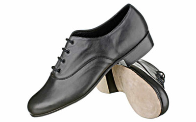 Черные мужские туфли для народного танца