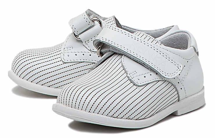Белые туфли на липучках