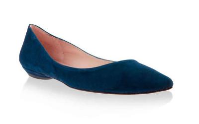 Синие туфли без каблука