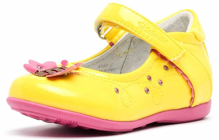 Желтые туфли для девочек