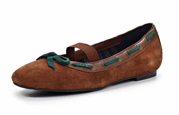 Коричневые туфли для девочек