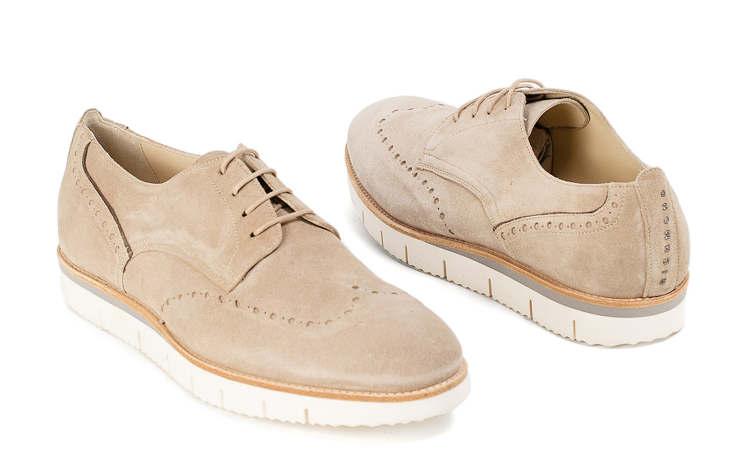 Бежевые мужские туфли
