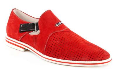 Красные мужские туфли