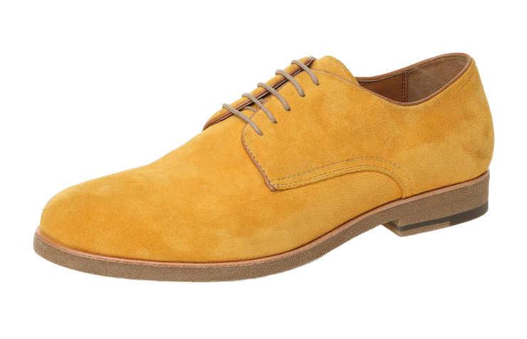 Мужские туфли желтого цвета