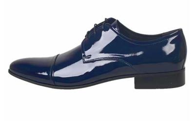 Синие лаковые туфли