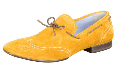 Мужские желтые туфли