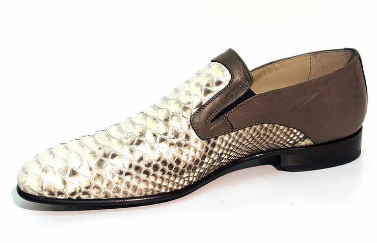 Бежево-коричневые туфли для мужчин
