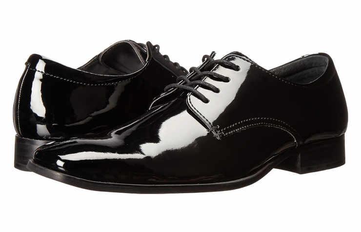 Лакированные мужские туфли