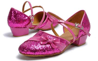 Розовые бальные туфли для девочек