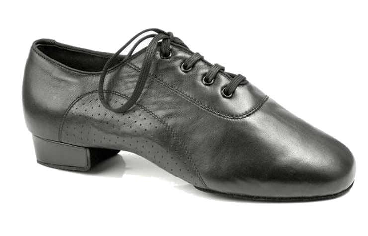 Черные туфли для мальчика для бальных танцев