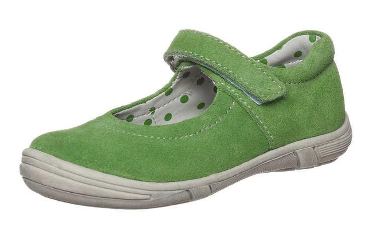 Замшевые туфли зеленого цвета для девочки