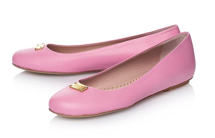 розовые балетки Moschino