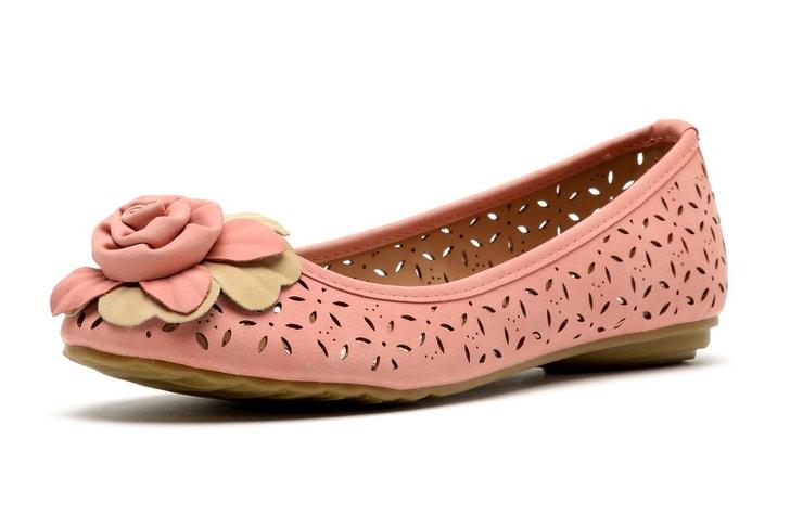 Балетки Wilmar розовые из нубука