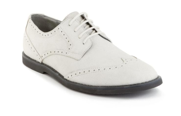 Замшевые белые ботинки для мужчин