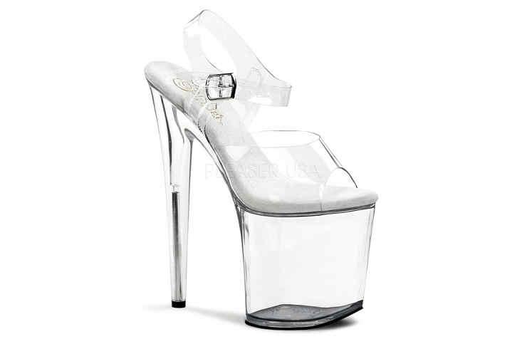 Прозрачные туфли на платформе