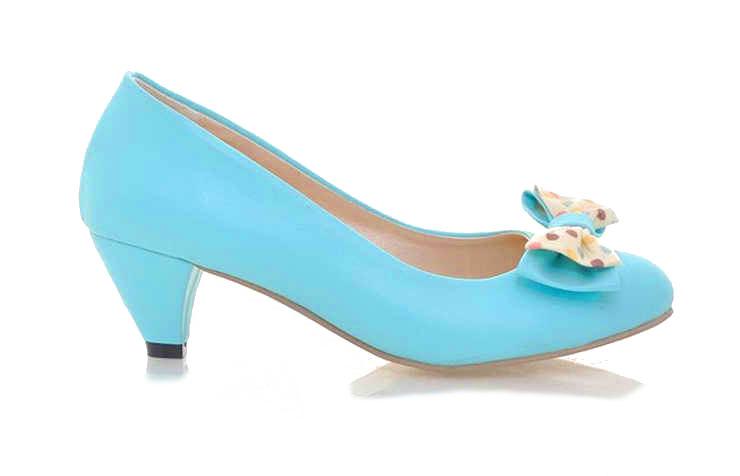 Голубые туфли с бантиком