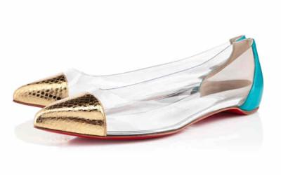 Прозрачные туфли для девочек