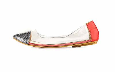 Женские прозрачные туфли-лодочки