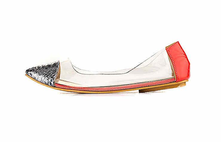 Женские прозрачные туфли