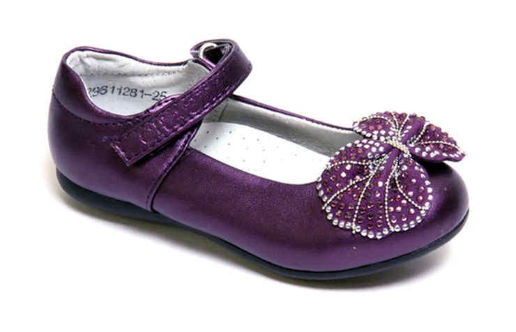 Фиолетовые туфли для девочек