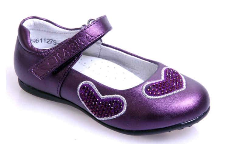 Фиолетовые туфли для девочки
