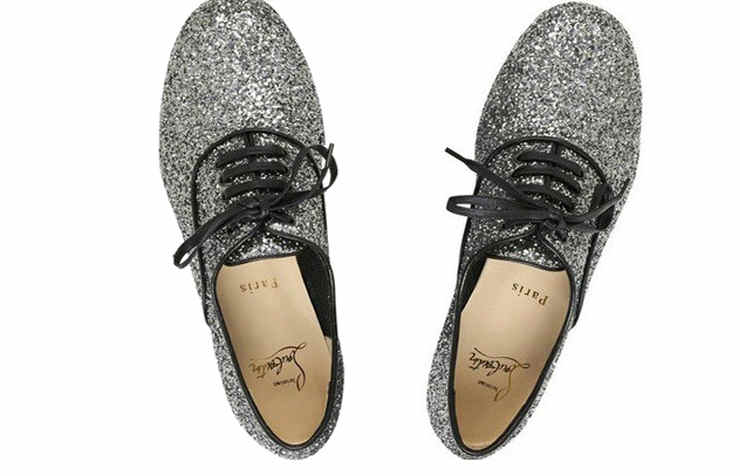 Мужские серебряные туфли