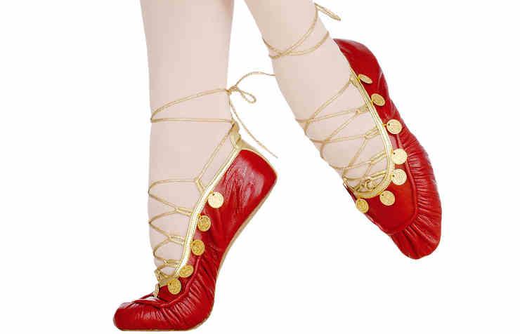 Сценические туфли-мокасины