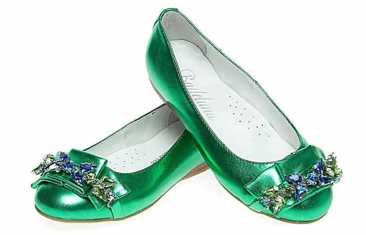 Зеленые туфли для девочек