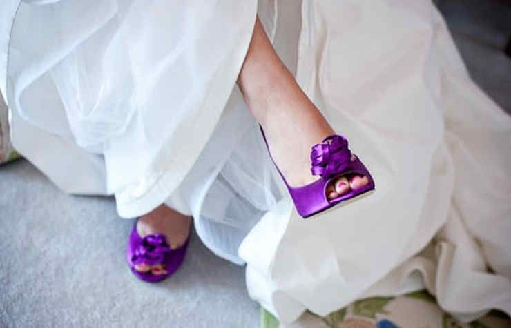 Яркие туфли на свадьбу