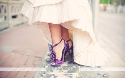 Фиолетовые женские туфли для свадьбы