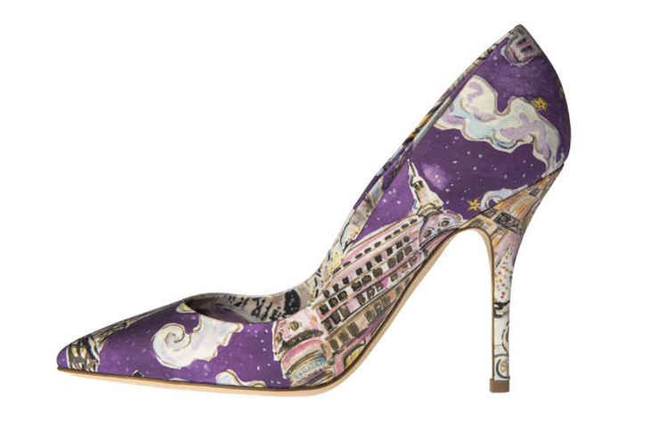Рождественские фиолетовые туфли
