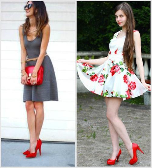 Платье и туфли на лето