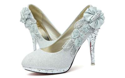 Туфли на Новый год с цветами