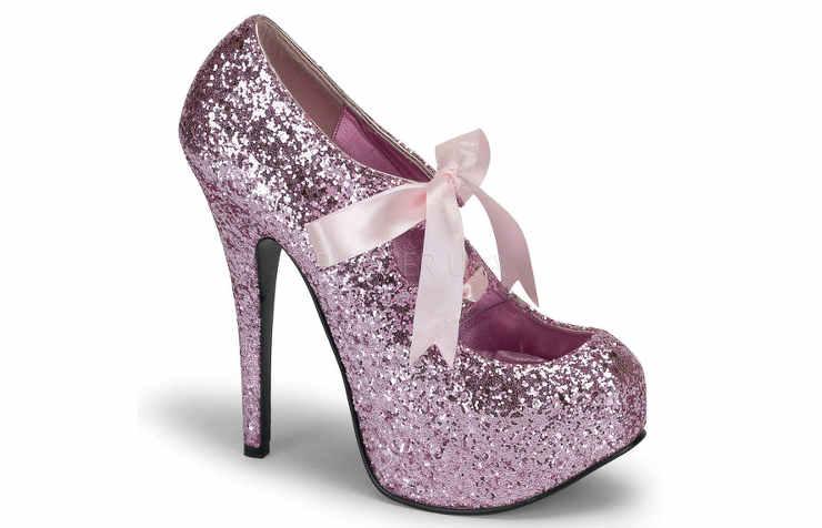 Сверкающие туфли на Новый год
