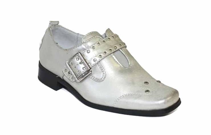 Серебряные туфли для мальчиков
