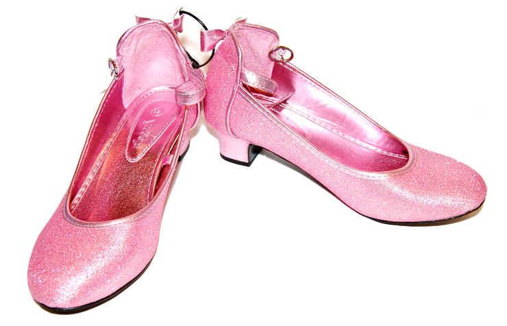 Нарядные розовые туфли для девочек