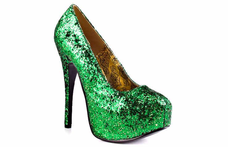 Зеленые туфли на Новый год