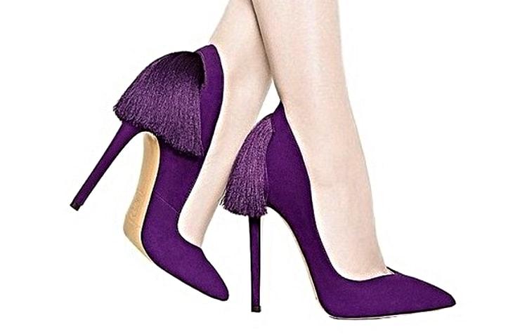 Фиолетовые вечерние туфли от Aleksander Siradekian IZO