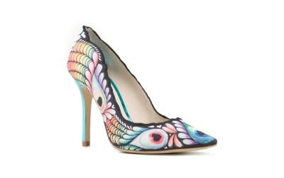 Туфли с разноцветным орнаментом