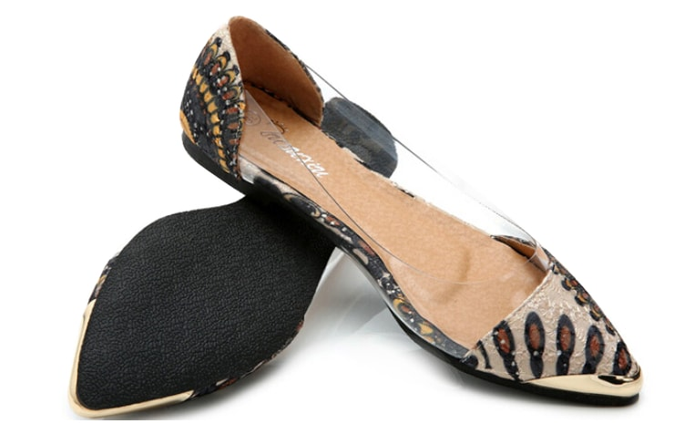 Туфли лодочки с прозрачными вставками