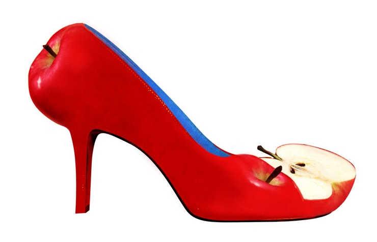 Необычные туфли-яблочки