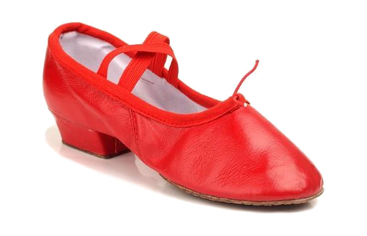 Красные джазовки с каблуком