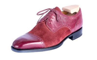 Туфли бордовые в стиле дерби от Mario Bemer