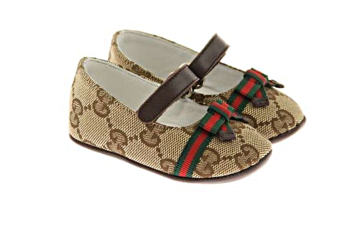 Туфли для малышей Gucci на липучке