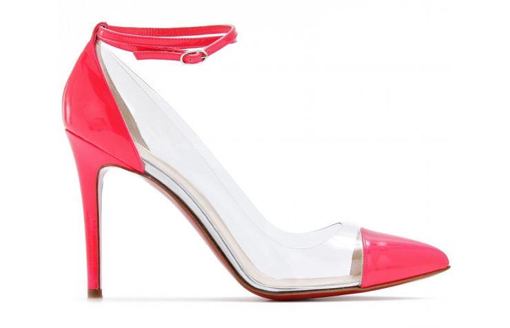 Прозрачные туфли на высоком каблуке от Christian Louboutin