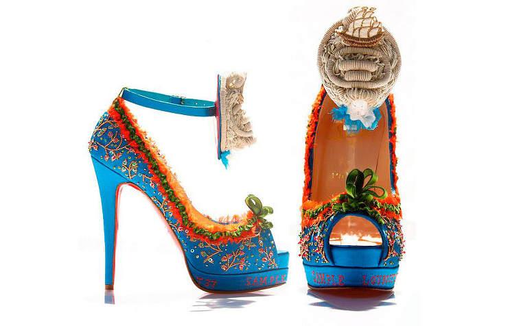 Необычные туфли из нубука