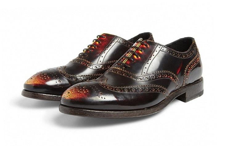 Мужские туфли с эффектом потертости от Paul Smith