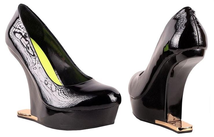 Замшевые туфли на платформе без каблука Glossi