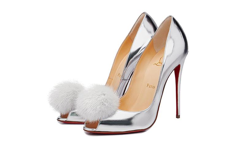 Новогодние туфли с помпоном